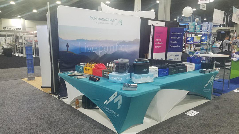 Pain Management Tech exhibits at the 2019 Medtrade show.